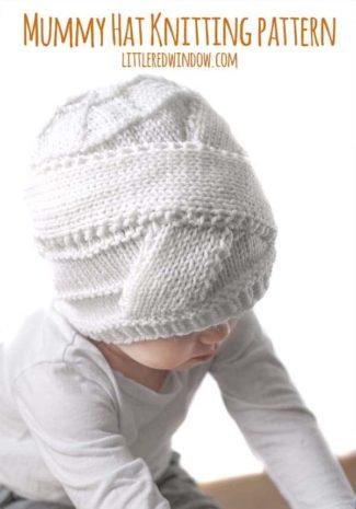 Halloween Mummy Hat Knitting Pattern