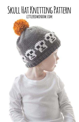 Skull Hat Knitting Pattern
