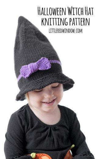 Little Witch Hat Knitting Pattern