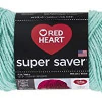 RED HEART Super Saver Yarn, Minty, E300.0520