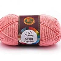 Lion Brand Yarn 761-101 24-7 Cotton Yarn, Pink
