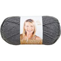 Lion Brand Yarn 860-151D Vanna's Choice Yarn, Charcoal Grey