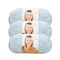 (3 Pack) Lion Brand Yarn 860-105H Vanna's Choice Yarn, Silver Blue