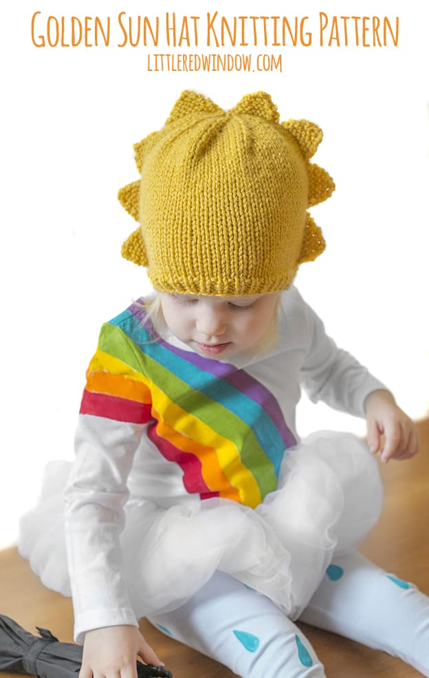 Golden Sun Hat Knitting Pattern Little Red Window