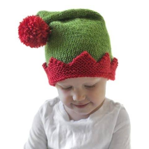 d99e1161b9b48 Christmas Elf Hat Knitting Pattern - Little Red Window
