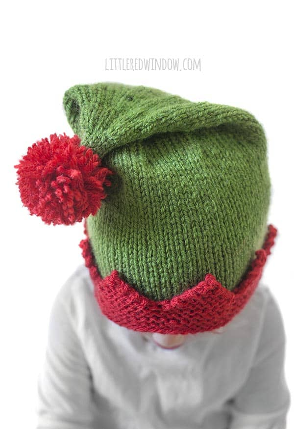 Christmas Elf Hat Knitting Pattern Little Red Window
