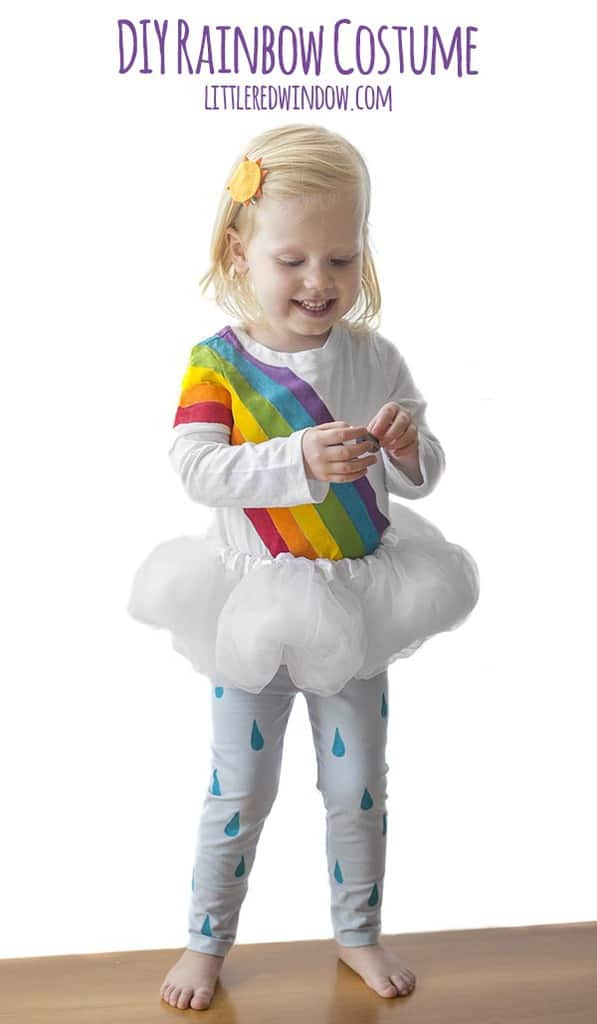 DIY Rainbow Costume for Kids