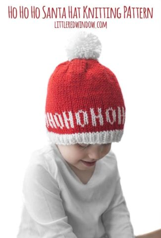 Ho Ho Ho Santa Hat Knitting Pattern