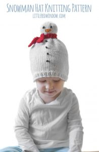 The Snowman Hat Knitting Pattern makes the cutest little winter hat for your snow-baby or snow-toddler!