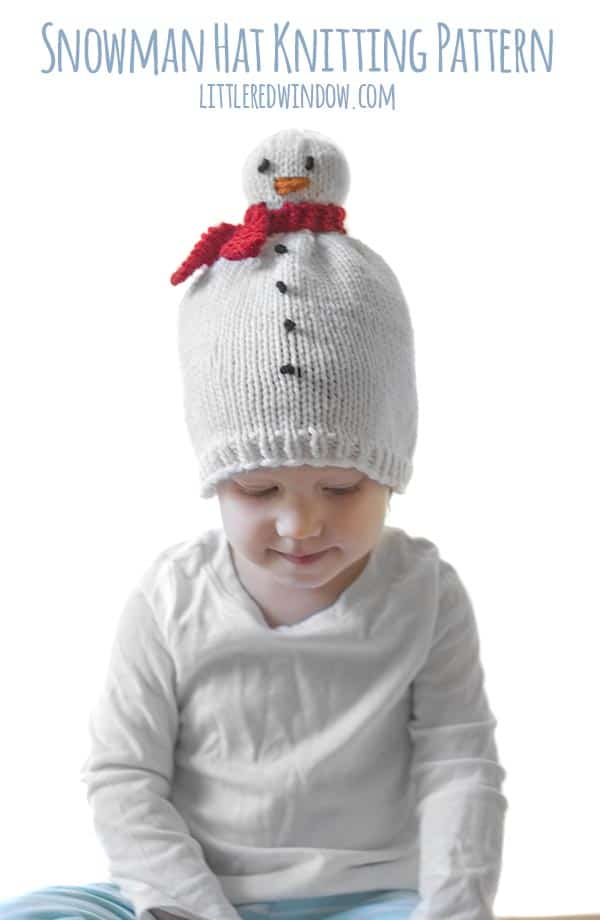 Snowman Hat Knitting Pattern