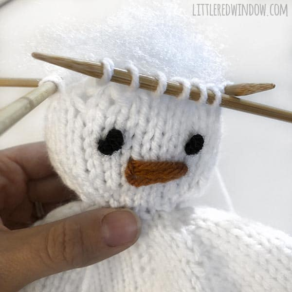 Winter Snowman Hat Knitting Pattern, for your adorable snow-baby or snow-toddler!