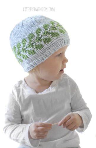 Vine Hat Knitting Pattern