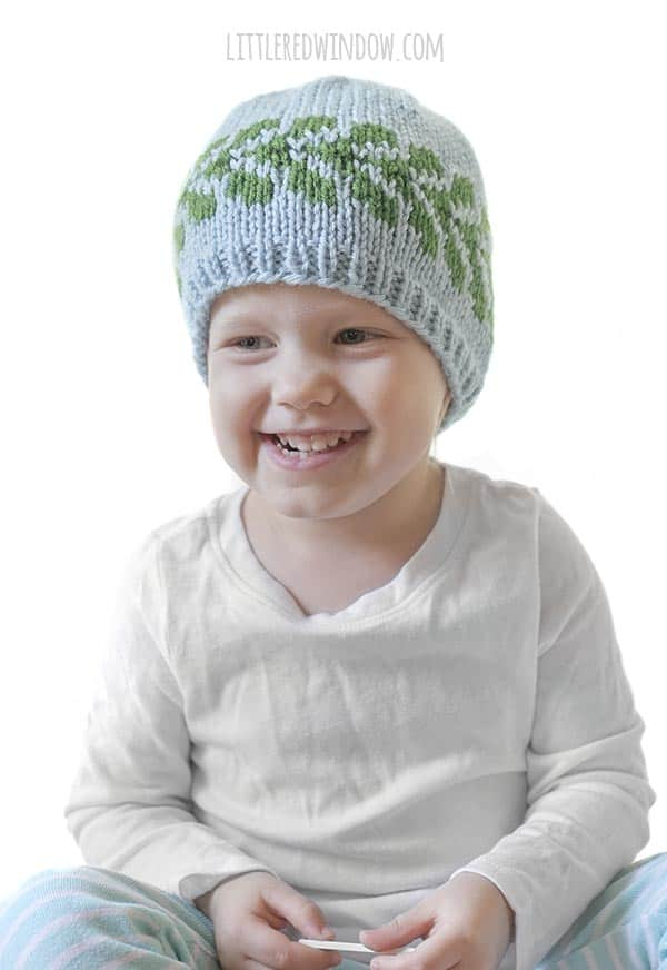 Kids love the Vine Hat knitting pattern, it's perfect for spring and summer!