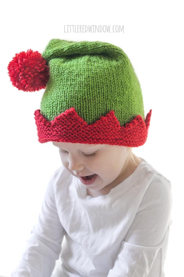 Christmas Elf Hat Knitting Pattern - Little Red Window