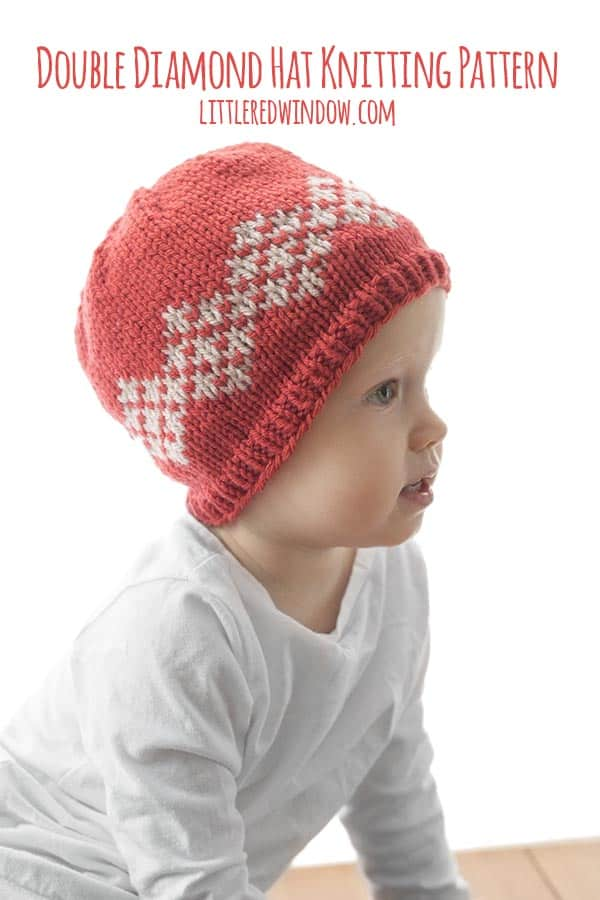 Double Diamond Hat Knitting Pattern