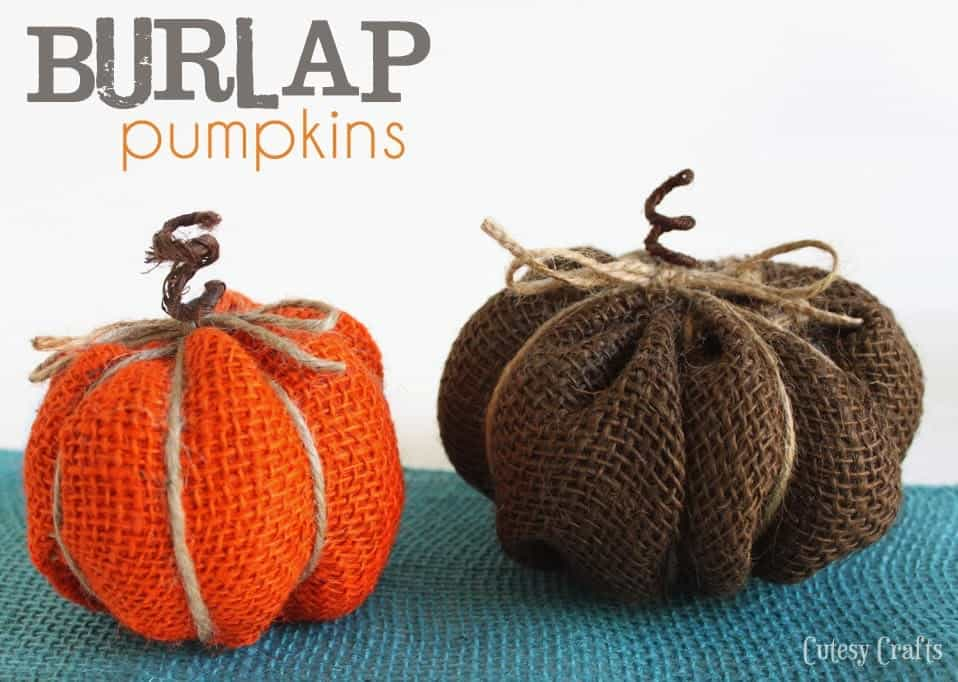Burlap Pumpkin Thanksgiving Craft from Cutesy Crafts