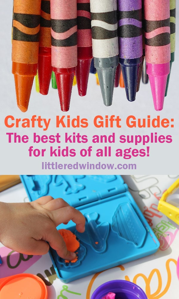 Need gift ideas for your crafty kid? Here's a giant list of craft kits and supplies for kids of all ages from preschool to middle school!