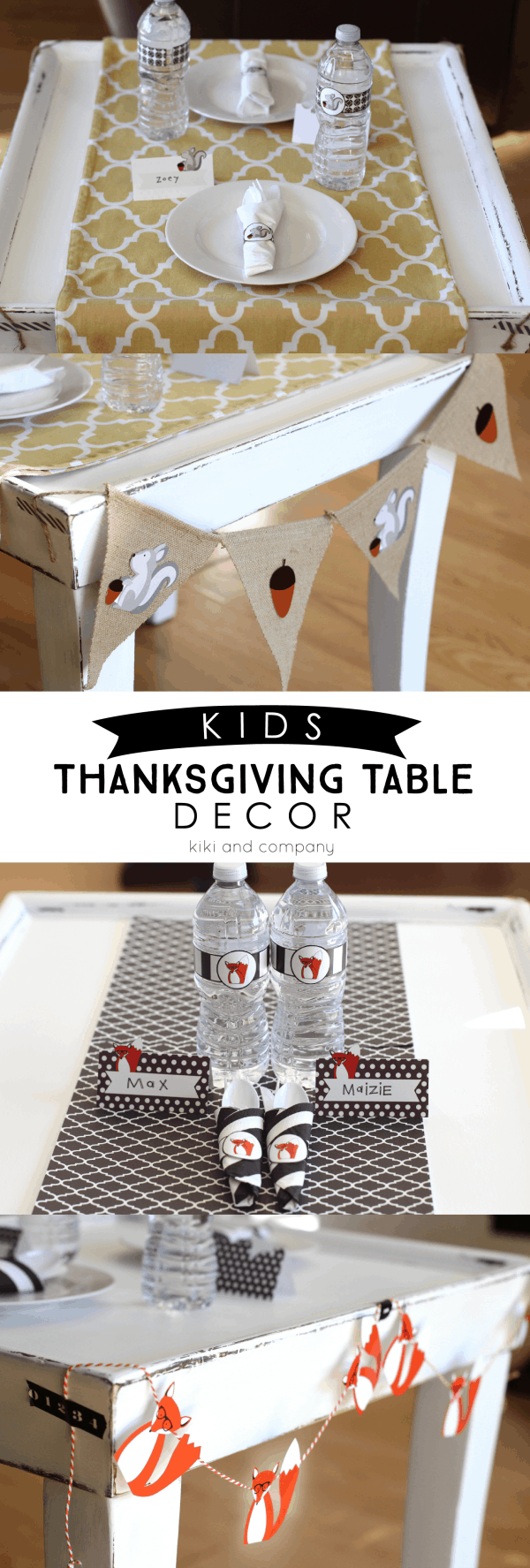 Kids' Table Printable Thanksgiving decor, the 36th avenue