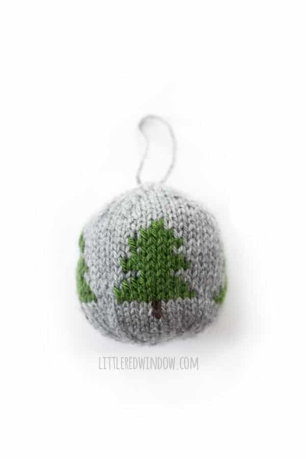 Knit Christmas Ornament Knitting Pattern, Christmas Tree motif!
