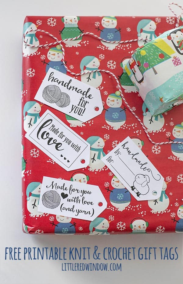 Free Printable Gifts Tags for Knit, Crochet and Fiber Gifts!