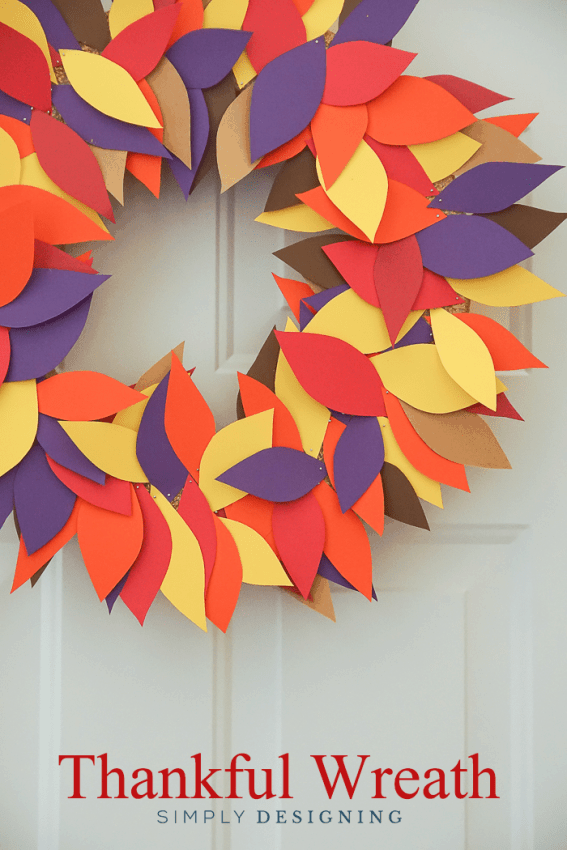 Simple Thanksgiving Wreath from Simply Designing