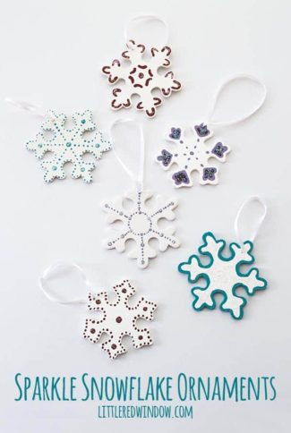 Sparkle Snowflake Ornaments