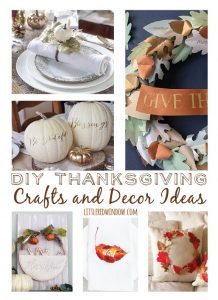 Gorgeous DIY Thanksgiving Crafts and Decor Ideas for your holiday table!