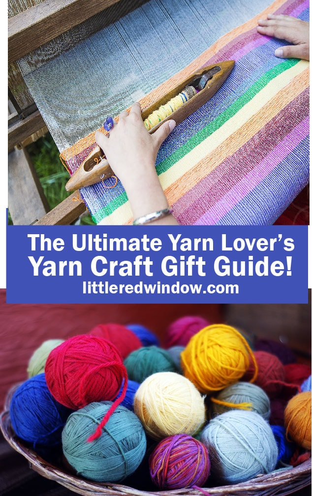 This ultimate gift guide is for the yarn craft and fiber lover in your life is chock full of fun yarn related gift ideas!