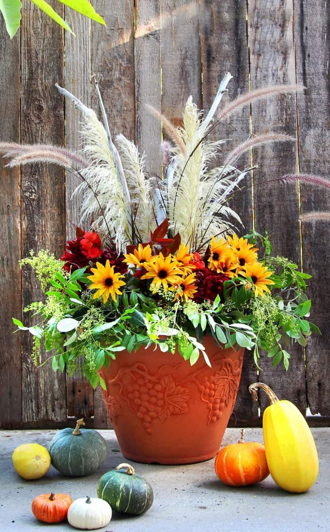 DIY Thanksgiving Planter from a Piece of Rainbow
