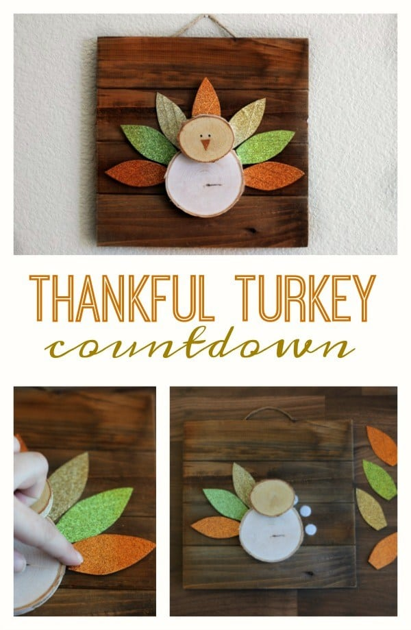 Thankful Countdown Turkey from Gluesticks