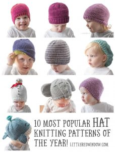 Your 10 most popular NEW knitting patterns from Little Red Window!