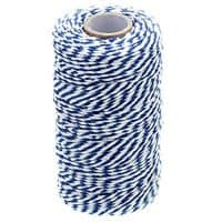 328 Feet Baker's Twine,Cotton Crafts Christmas Holiday Twine,Dark Blue & White String