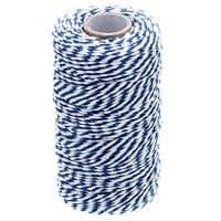 328 Feet Baker's Twine,Cotton Crafts Christmas Holiday Twine,Dark Blue & White String