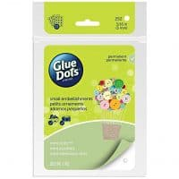 Glue Dots Mini Adhesive Dot Sheets, Contains 252 (.19 Inch) Diameter Adhesive Dots (33709-FC)