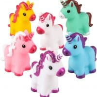 RI Novelty Mini Rubber Unicorns Bright Colors - Pack of 12