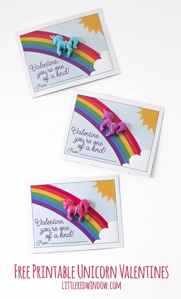 Free Printable Unicorn Valentines, download, print and cut, so easy!