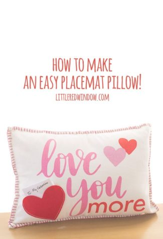 How To Make an Easy Placemat Pillow