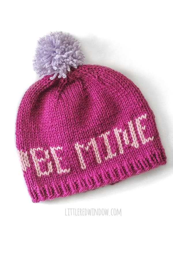 Be Mine Valentine Love Notes Hat knitting pattern!