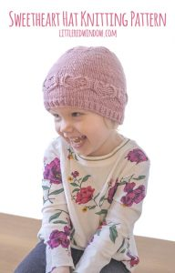 Valentine Sweetheart Hat knitting pattern on a cute baby!
