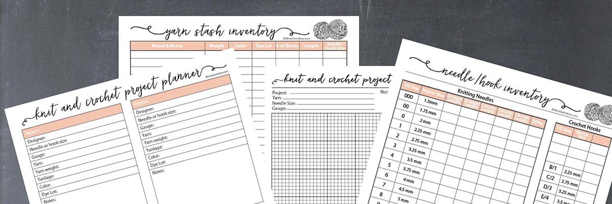 Cute printed Knit & Crochet project planning pages!