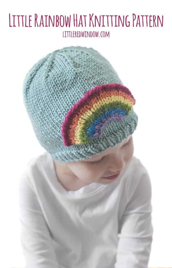 Little Rainbow Hat Knitting Pattern