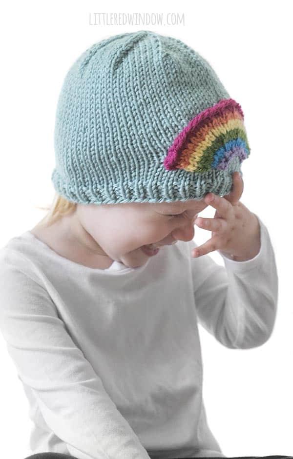 Your little rainbow will love the Little Rainbow Hat knitting pattern!