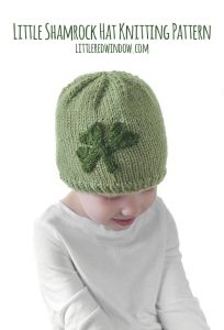 The Little Shamrock Hat knitting pattern is perfect for St. Patrick's Day, knit one for your newborn, baby or toddler!