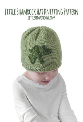 Little Shamrock Hat Knitting Pattern