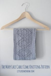 Mary Lace Cable Cowl Knitting Pattern, this gorgeous lace knitting pattern makes a soft and cozy cowl!