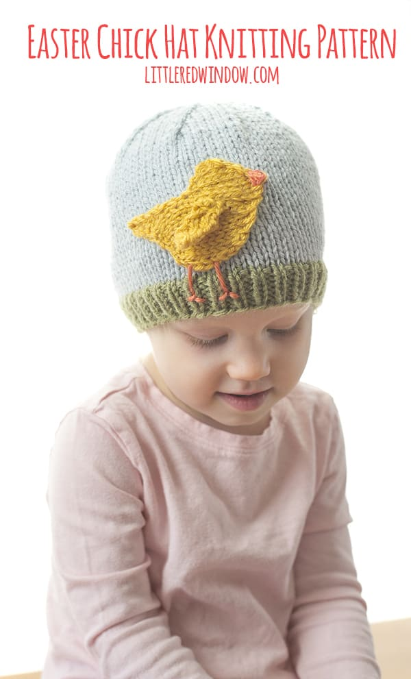 Knit an adorable Easter Chick Hat knitting pattern for your newborn, baby or toddler this spring!