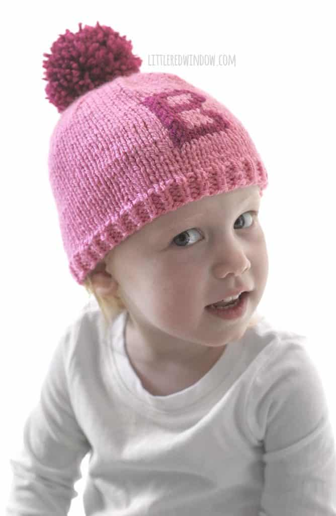 Your little one will love the Monogram Hat knitting pattern!