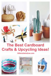 The best cardboard crafts & upcycling ideas, use your old cardboard boxes to make something fabulous!