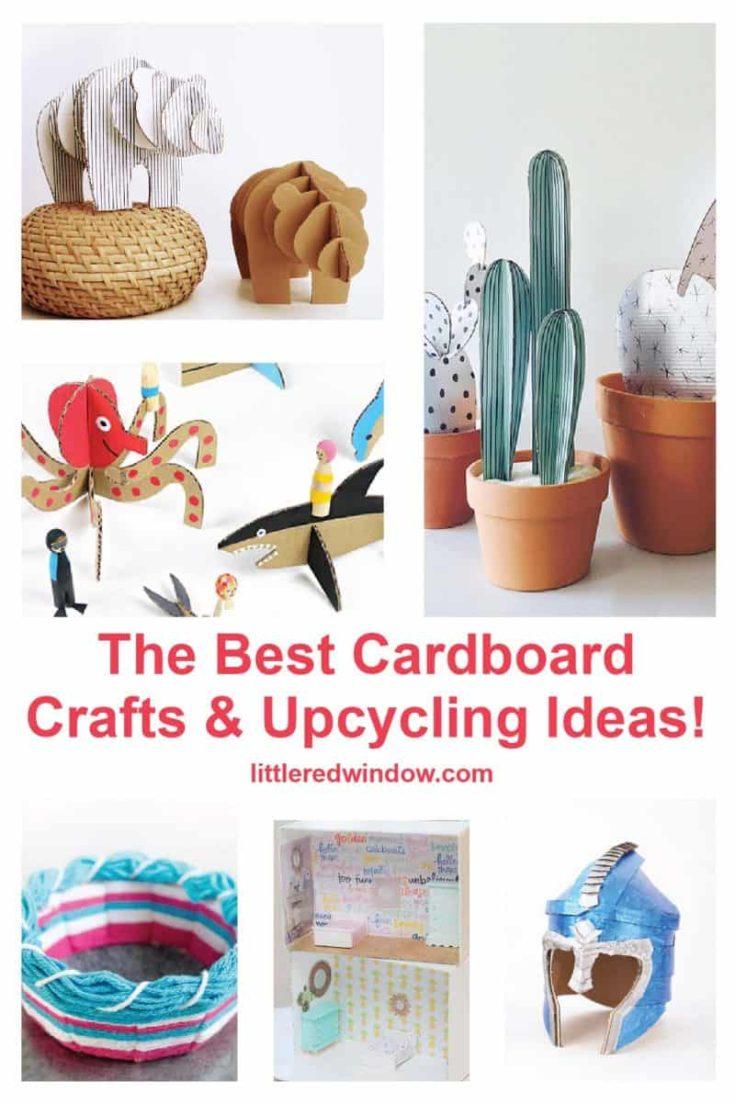 DIY Cardboard Crafts & Upcycling Ideas