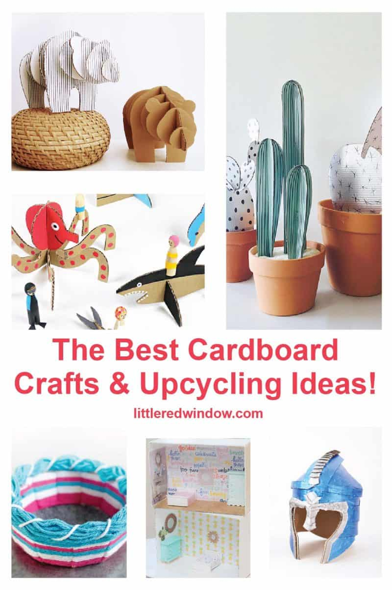 Diy Cardboard Crafts Upcycling Ideas Little Red Window